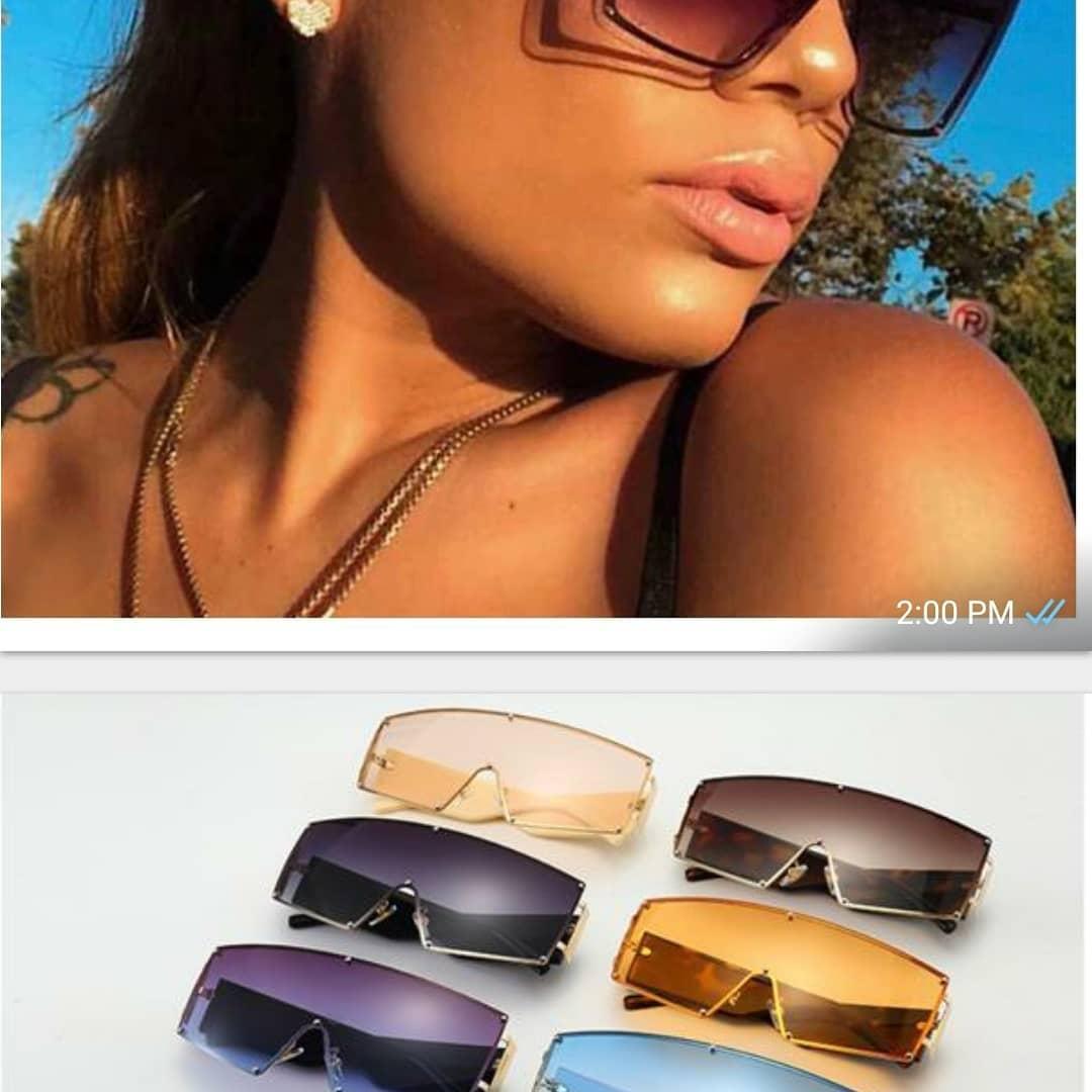 Oversized Square Sunglasses Flat Top Fashion Oversized Shades Planting Seeds Digital Pop Up Shop